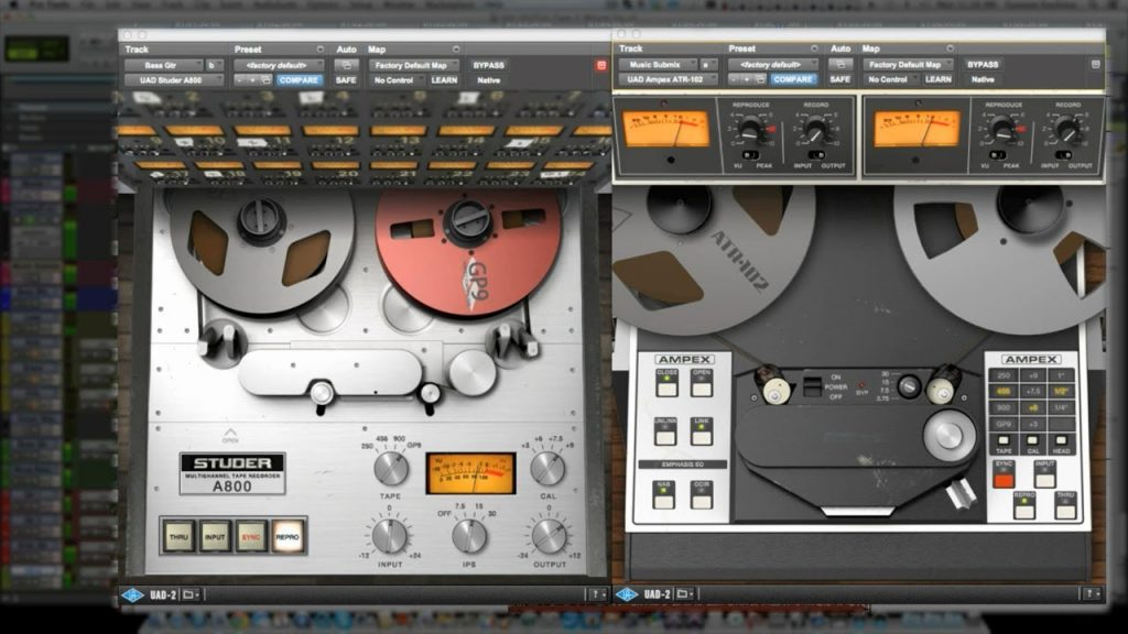 UAD A800, AMPEX...